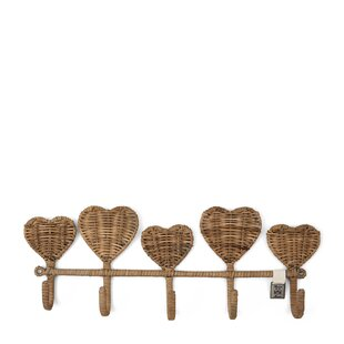 Hearts Wall Mounted Coat Rack (Set Of 6) By Riviera Maison