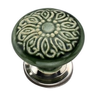 Handpainted Mushroom Round Knob (Set of 8)