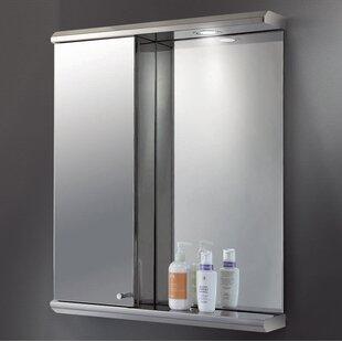 Shop For Toni Edge Mirror Door 28 x 23 Recessed Frameless Medicine Cabinet and LED Lighting ByOrren Ellis