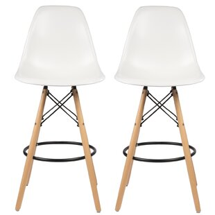 Siple Mid-Century Modern Retro 26.5 Bar Stool (Set of 2)