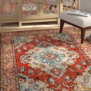 Best Reviews Tsukiji Orange Area Rug By Mistana