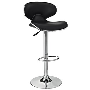 Nassau Adjustable Height Bar Stool Orren Ellis