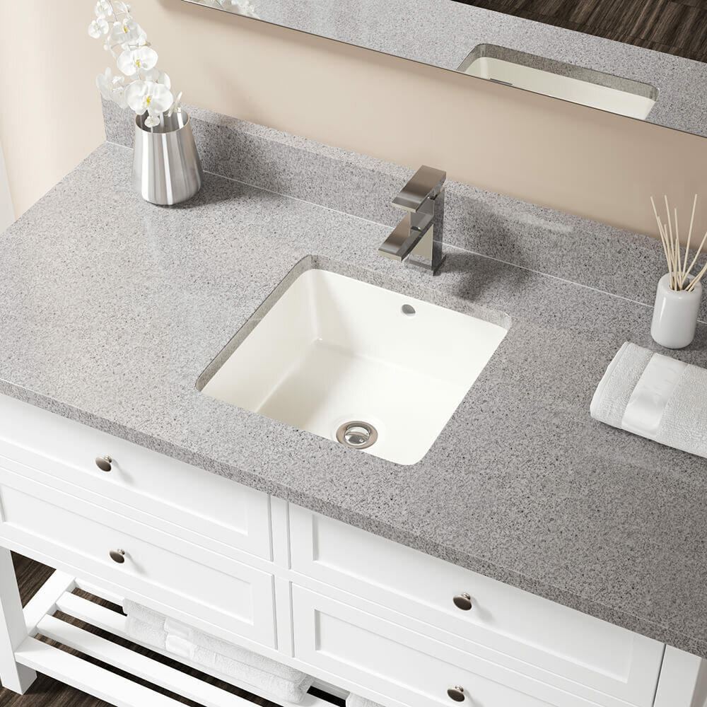 Mrdirect Ensemble Drain Square Undermount Bathroom Sink With Overflow Wayfair