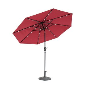 Grecia Solar Lighted 9' Market Umbrella