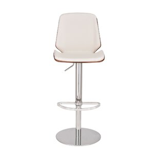Vanzant Adjustable Height Swivel Bar Stool by Orren Ellis