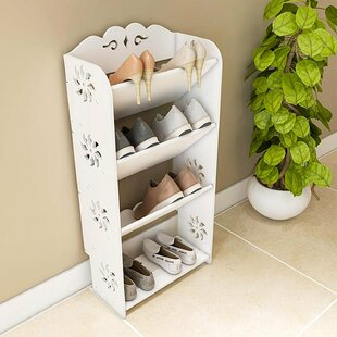 Best Reviews 4 Tier Shoe Rack By Rebrilliant