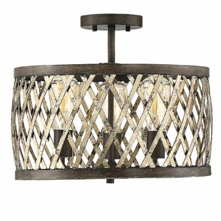 Anakin 3-Light Semi Flush Mount by Millwood Pines