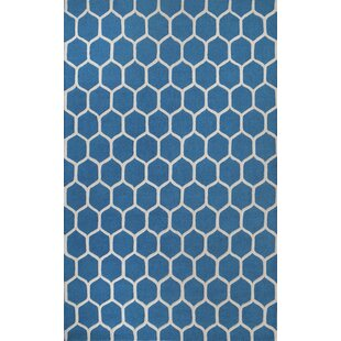 Bargain Dewar Hand-Tufted Blue/White Area Rug By Brayden Studio