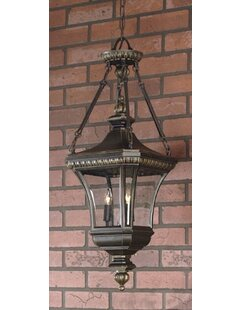 Falnaglass 3-Light Outdoor Hanging Lantern