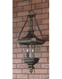 Falnaglass 3-Light Outdoor Hanging Lantern