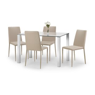 Amor Dining Set With 4 Chairs By 17 Stories