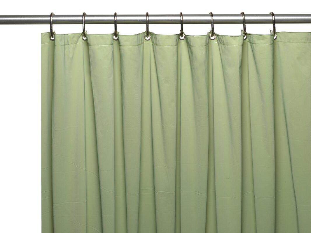 Hotel 8 Gauge Vinyl Shower Curtain Liner With Metal Grommets