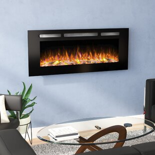 Iserman Wall Mounted Electric Fireplace by Orren Ellis