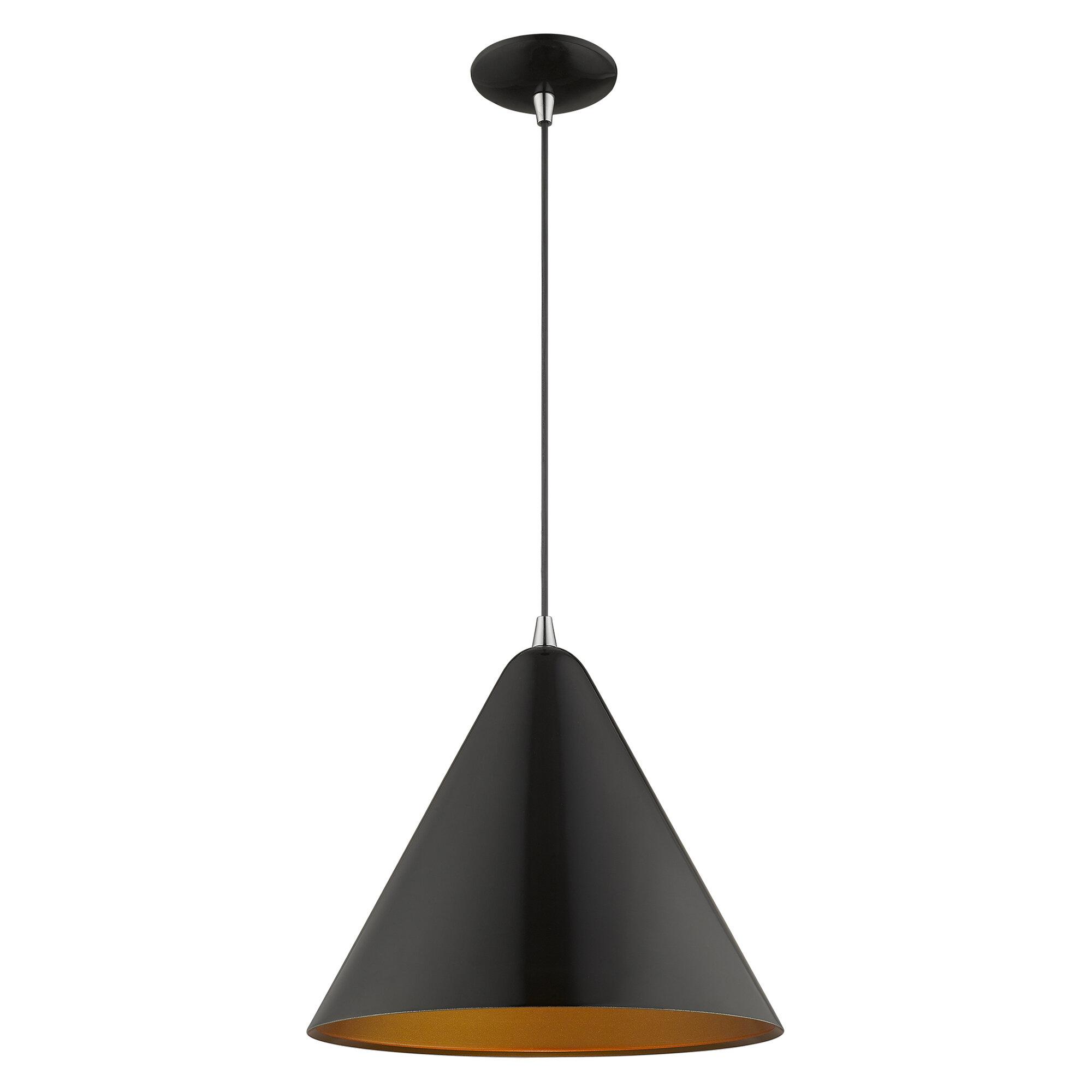 Allmodern 1 Light Single Cone Pendant Reviews Wayfair