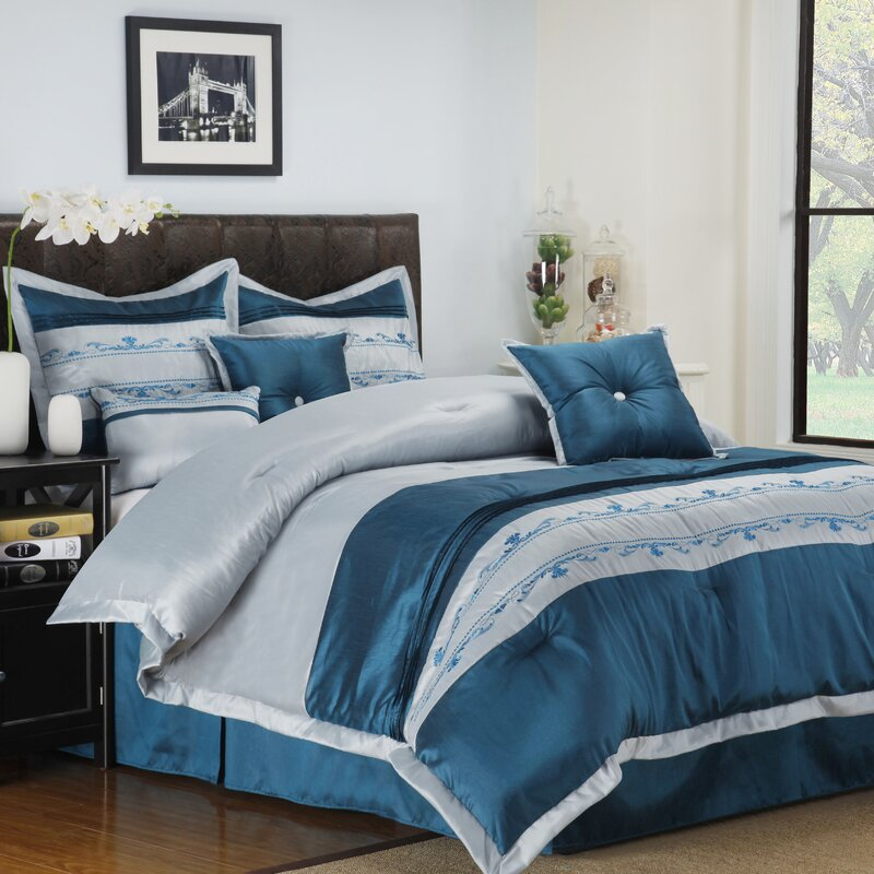 Highland Dunes Gann Reversible Comforter Set Reviews Wayfair