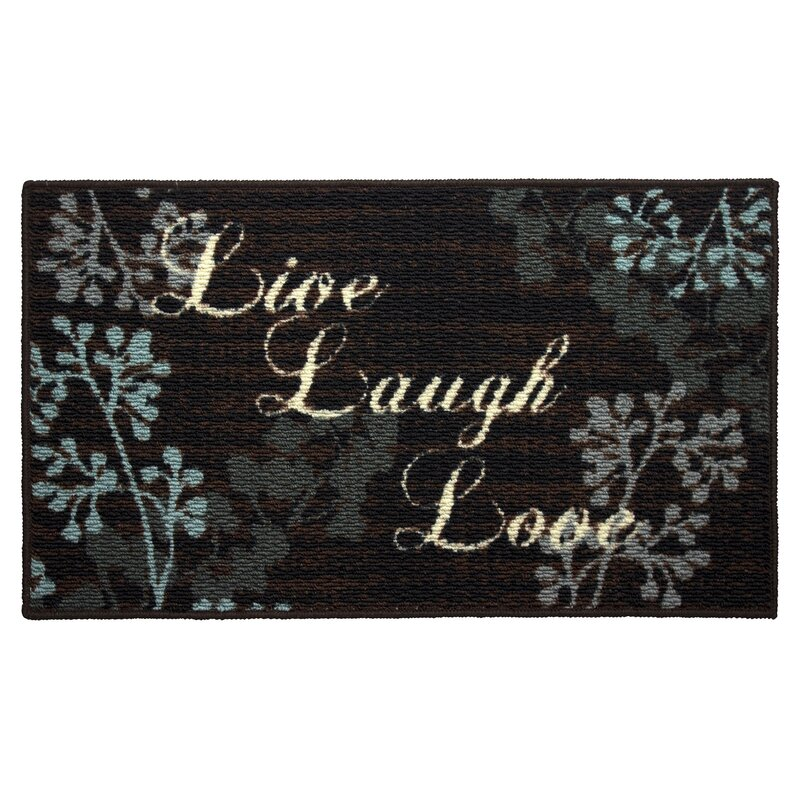 Textured Loop Live Laugh Love Kitchen Area Rug