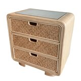 Armory Rattan 3 Drawer Bachelor's Chest by Bayou Breeze