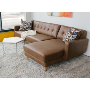 Elva Leather Sectional by Corr..