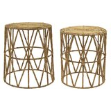Abrams 2 Piece Nesting Tables by Bungalow Rose