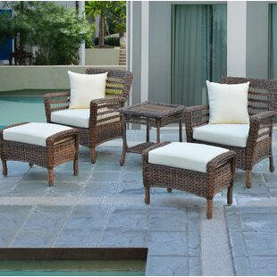 Boyles 5 Piece Conversation Set with Cushions