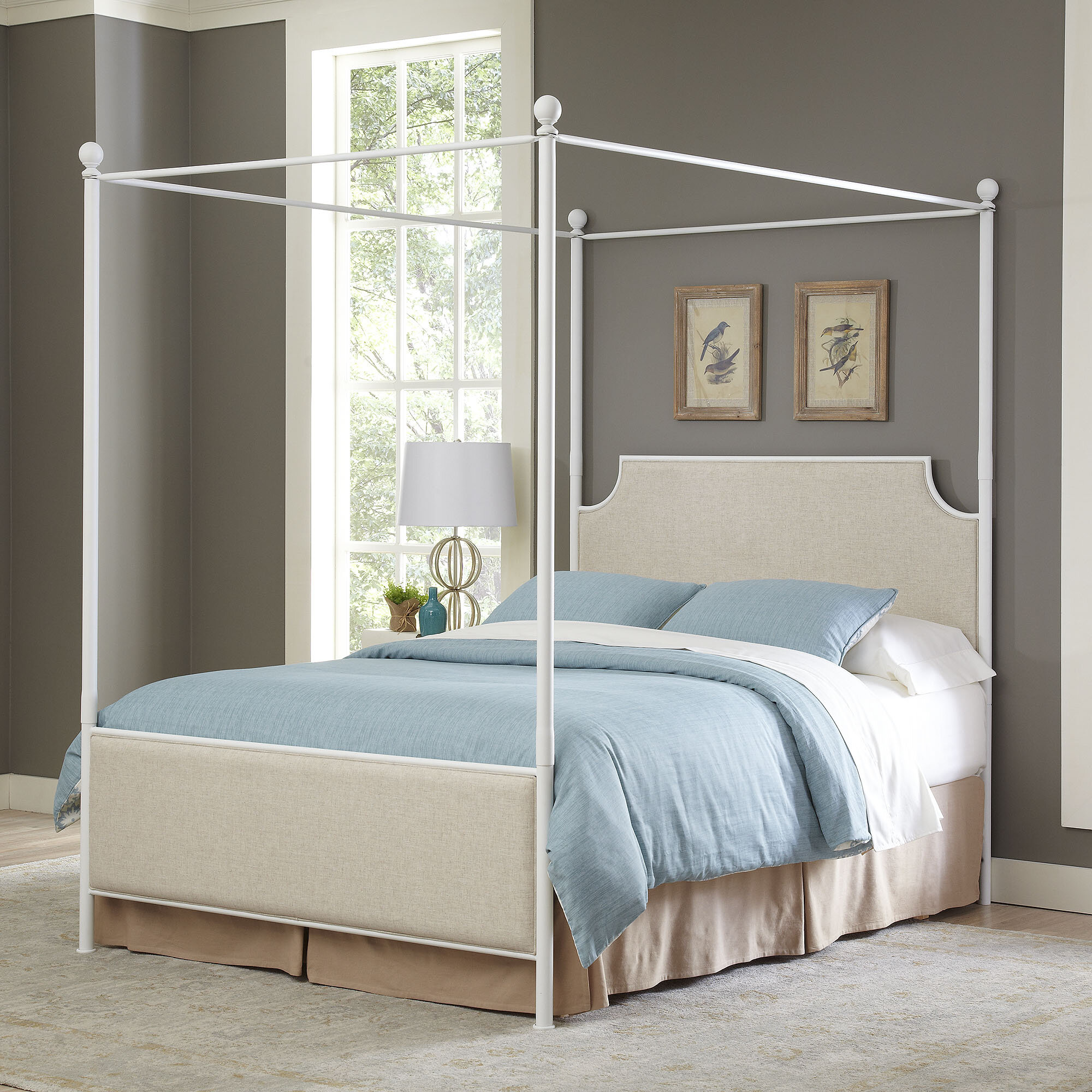 Birch Lane™ Williston Upholstered Canopy Bed & Reviews | Birch Lane