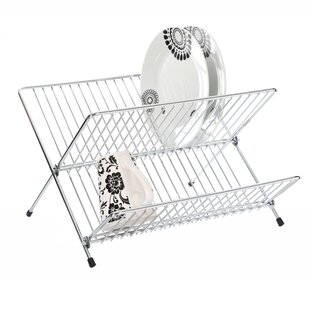Folding Dish Drainer in Chrome by Premier Housewares
