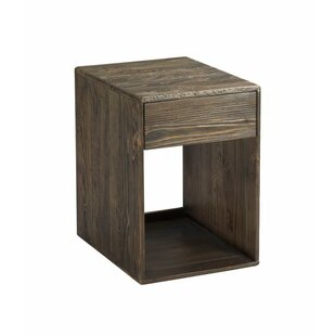 Kauffman Block End Table with Storage by Union Rustic