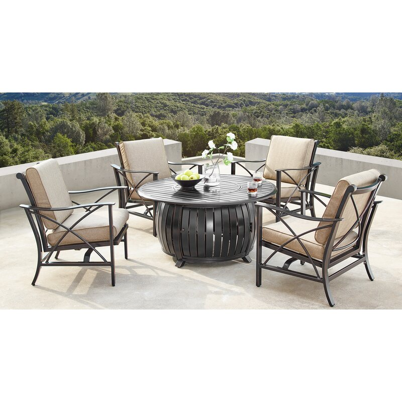Canora Grey Mccomas 5 Piece Dining Set With Cushions Wayfair