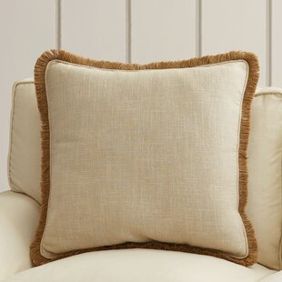 Wendell Square Linen Throw Pillow