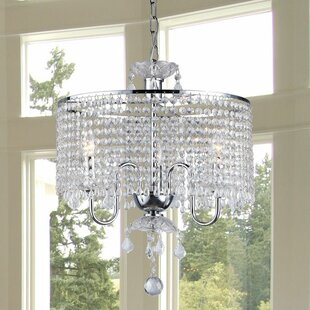 Warehouse of Tiffany Beaded 3-Light Crystal Chandelier