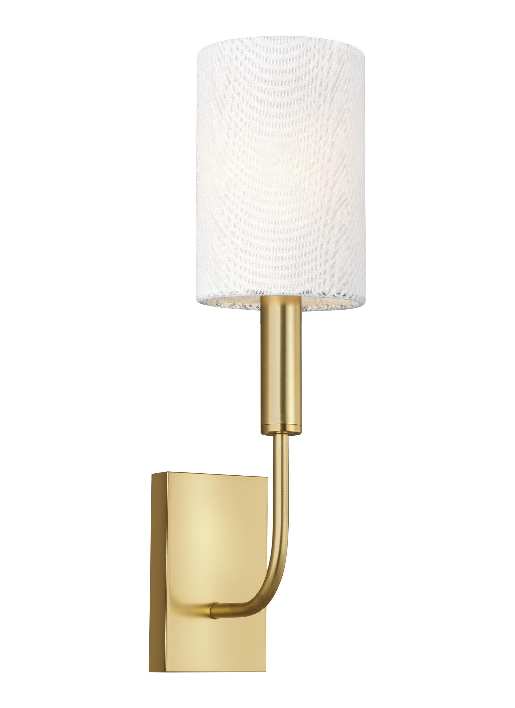 Ed Ellen De Generes Crafted Bygenerationlighting Brianna 1 Light Dimmable Candle Wall Light Reviews Wayfair