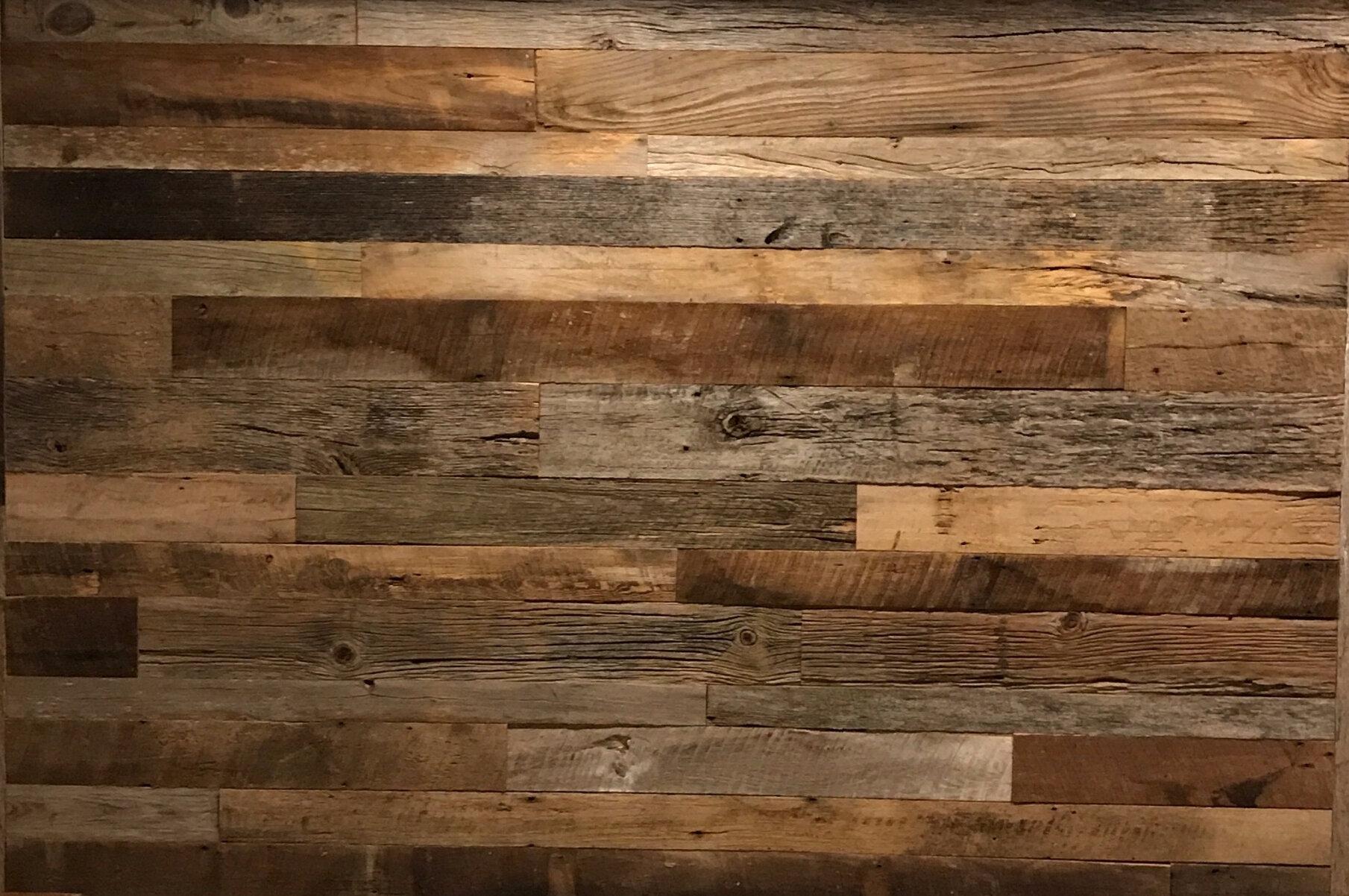 Vintage Timbers Solid Wood Wall Paneling Reviews Wayfair