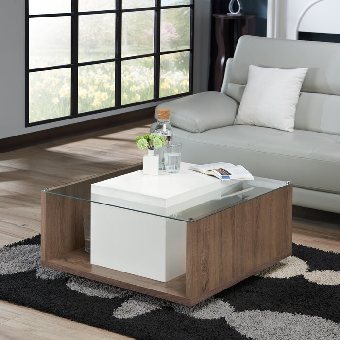 Halterman Contemporary Coffee Table With Storage
