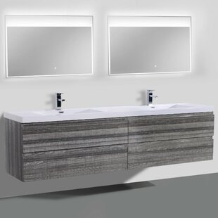 Lina 84 Wall-Mounted Double Bathroom Vanity Set By Orren Ellis