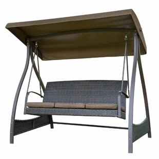 Red Barrel Studio Flavin Garden Canopy Lounger Porch Swing with Stand