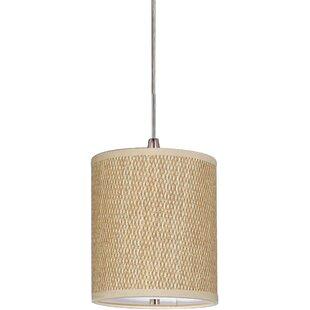 Drum shade pendant light wayfair denning 1 light fabric shade drum pendant aloadofball Images