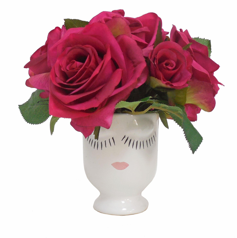 Tree Masters Inc Roses Selfie Floral Arrangement In Vase Wayfair