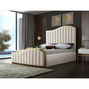 Celestine Velvet Upholstered Platform Bed by Mercer41
