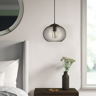 Abate 1-Light Globe Pendant by Mercury Row