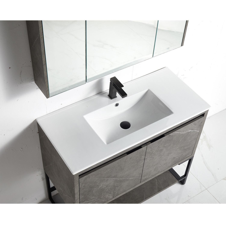 Wrought Studio Alister 21 Single Bathroom Vanity Set With Mirror Wayfair