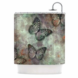 'World of Butterflies' Digital Single Shower Curtain