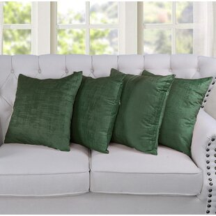 Bleckley Textured Velvet Pillow Cover (Set of 4)
