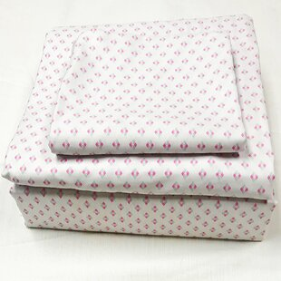 Bungalow Rose Greenmeadow 200 Thread Count 100% Cotton Sheet Set