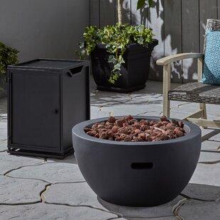 Gangemi 2 Piece Outdoor Concrete Propane Fire Pit Set By Latitude Run