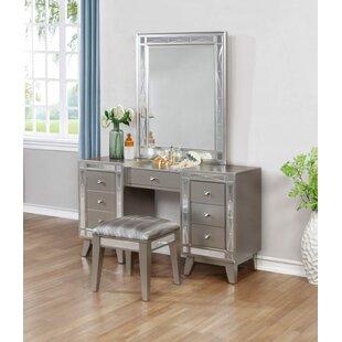 Mercer41 Jantzen Vanity Set with Mirror