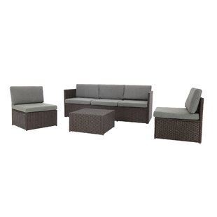 Heger 4 Piece Sectional Set with Cushions by Ebern Designs