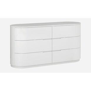 Janette 6 Drawer Standard Dresser