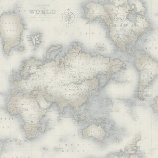 World map wallpaper wayfair save freerunsca Gallery
