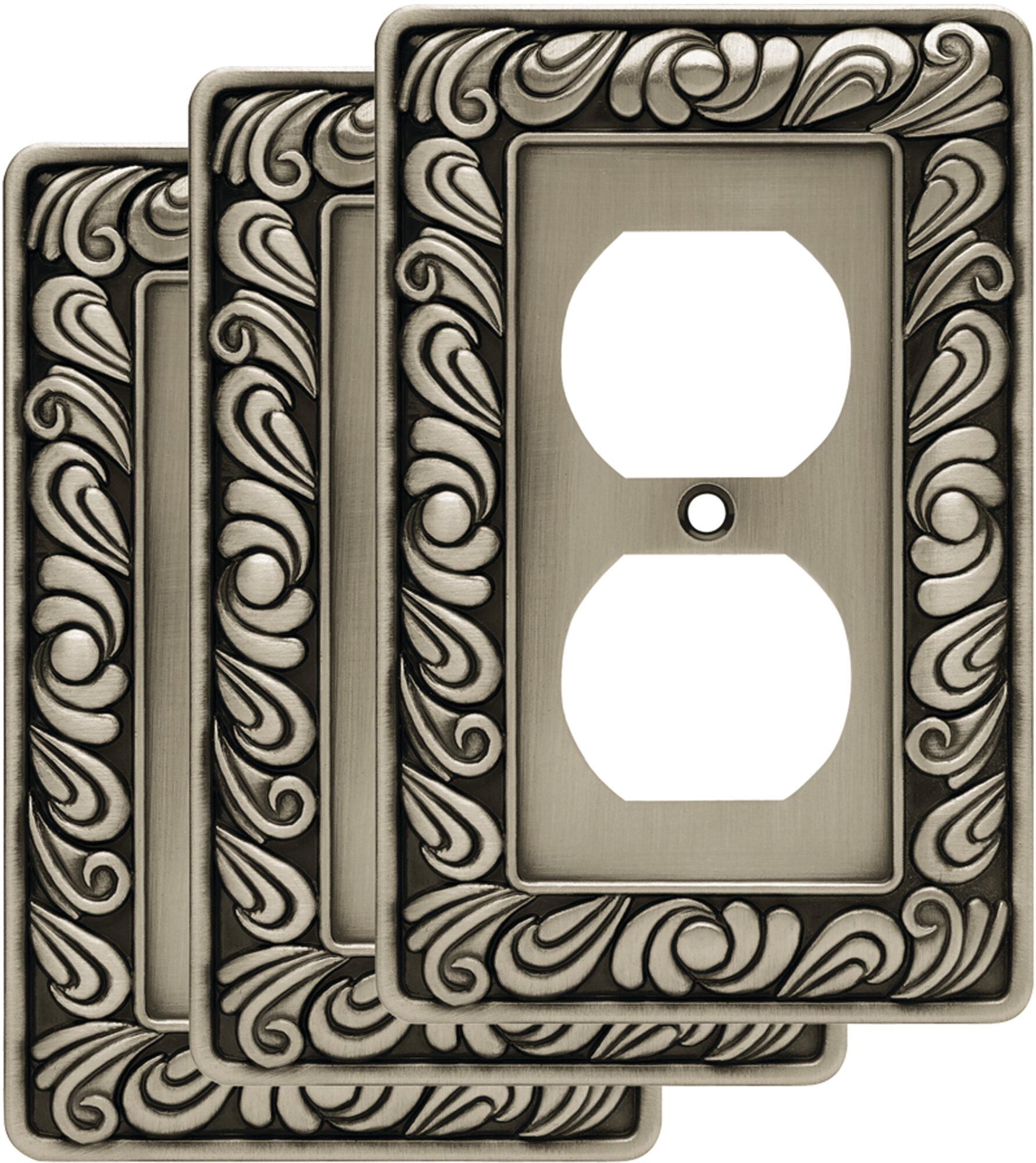 Franklin Brass Paisley 1 Gang Duplex Outlet Wall Plate Reviews Wayfair