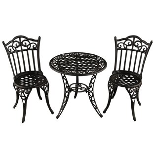 Fleur De Lis Living Caseville Ornate Traditional 3 Piece Bistro Set